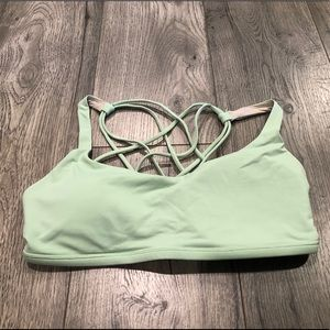 Lululemon Free To Be Bra (Wild) in Light Green